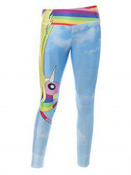 Cartoon Adventure Time Print Skinny Gym Leggings -