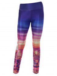 City Digital Print Skinny Gym Leggings - COLORMIX