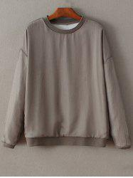 Round Neck Long Sleeve Knitting Loose Sweatshirt -