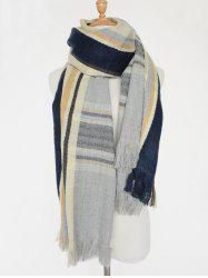 Different Stripes Pattern Fringed Shawl Scarf