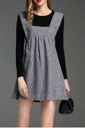 Pinafore Dress With Tee -