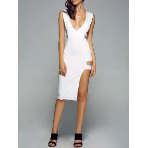 Deep V Neck Cutout Bodycon Night Out Dress