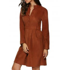 Long Sleeve Shirt Dress With Pockets