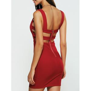Mini Backless Cut Out Caged Club Dress