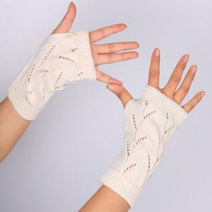 Branch Pattern Crochet Hand Fingerless Gloves