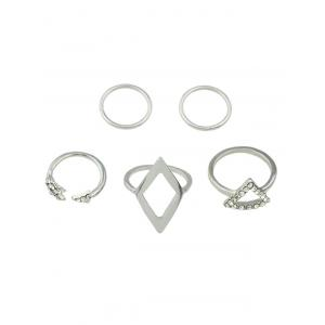 Rhinestone Alloy Triangle Jewelry Set Rings