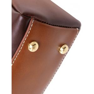Vintage PU Leather Stitching Crossbody Bag -