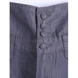 Plus Size Buttoned Overall Pants -