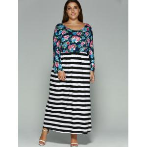 Floral Print Plus Size Maxi Dress -