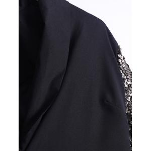 Single-Buttoned Sequined Sleeves Blazer -