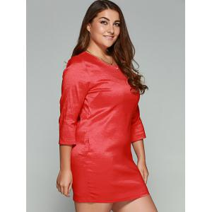 Plus Size Vertical Pocket Sheath Dress -