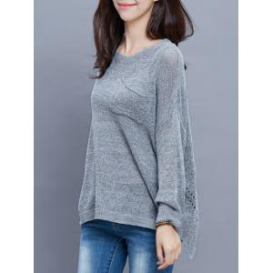 High-Low Baggy Sweater -