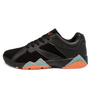 PU Spliced Suede Lace-Up Athletic Shoes -
