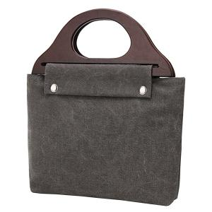 Zip Closure Canvas Tote Bag -
