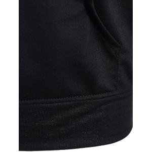 Printed Big Pocket Pullover Hoodie - BLACK XL