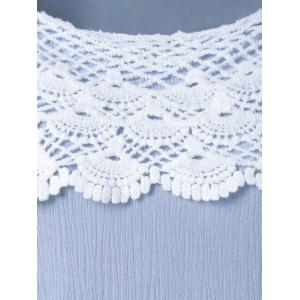 Cap Sleeve Lace Splicing Tee -