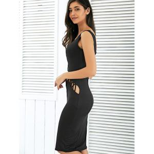 Crisscross Strap Cutout Bodycon Club Midi Dress -