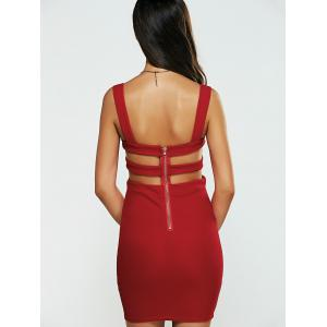 Mini Backless Cut Out Caged Club Dress -
