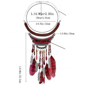 Personality Feathers Pendant Fake Collar Necklace -