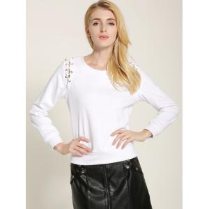 Fit Lace Up Sweatshirt -