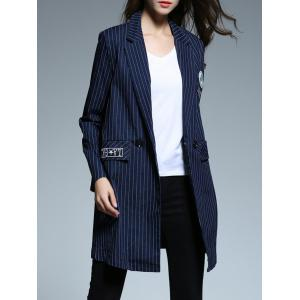 Striped Patched Blazer -