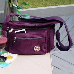 Casual Zippers Nylon Crossbody Bag -