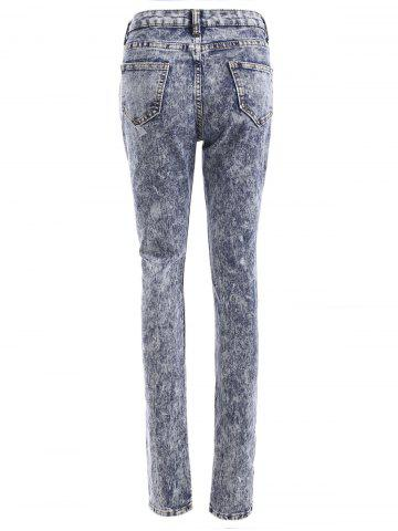 Store Snow Wash Skinny Jeans - L COLORMIX Mobile