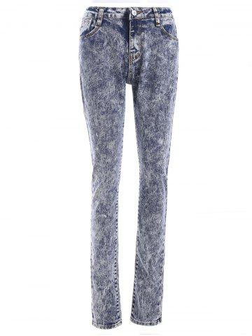 Snow Wash Skinny Jeans - Colormix - S