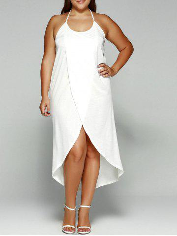 Discount Halter Asymmetrical Plus Size Night Out Dress