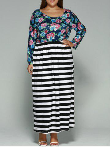 Shop Floral Print Plus Size Maxi Dress