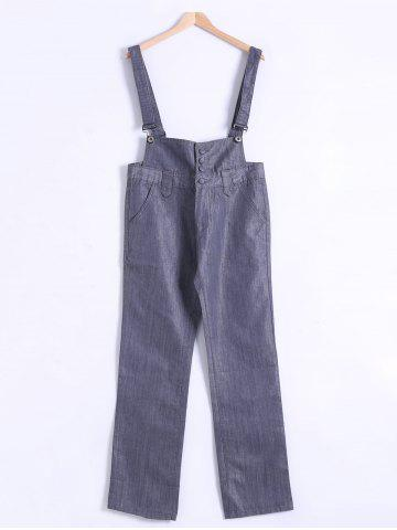 New Plus Size Buttoned Overall Pants