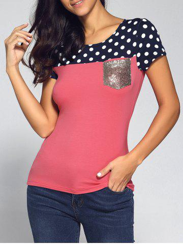 Latest Polka Dot Sequined Tee