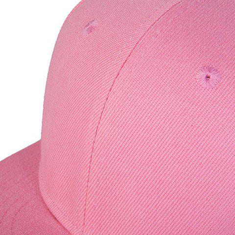 Outfits Casual Skateboard Snapback Hat - PINK  Mobile