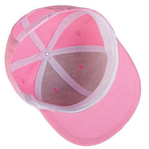 Latest Casual Skateboard Snapback Hat - PINK  Mobile