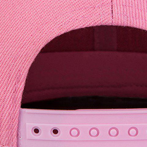 New Casual Skateboard Snapback Hat - PINK  Mobile