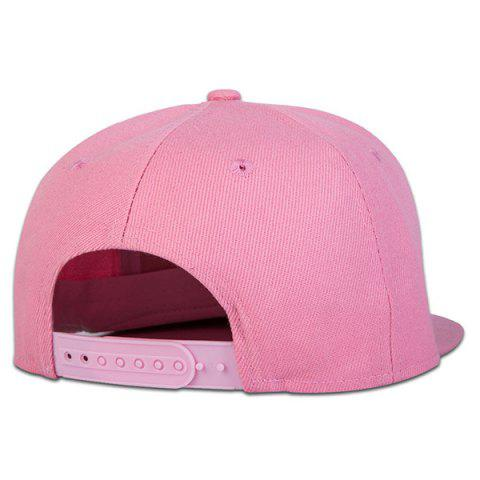 Chic Casual Skateboard Snapback Hat - PINK  Mobile