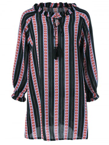Buy Striped Ethnic Print Dress