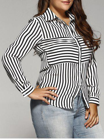 Affordable Plus Sized Striped Shirt