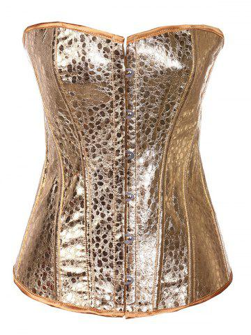 Shop Strapless Sheeny Lace-Up Corset