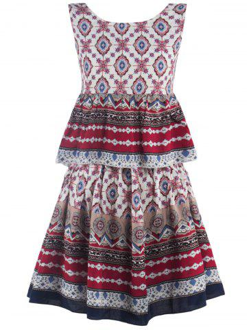 Store Printed Flounce Tank Top + A-Line Skirt Twinset