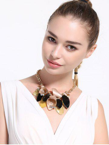 Outfit Rhinestone Alloy Beads Flower Necklace