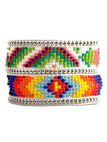 Buy Multicolor Beaded Geometric Bracelet