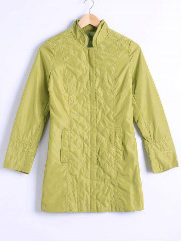Discount Buttoned Argyle Slimming Coat