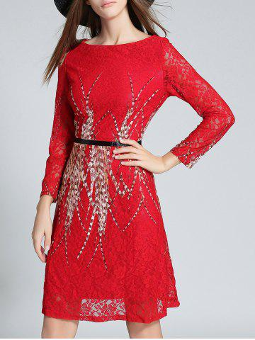 Outfits Long Sleeve Midi Lace Dess