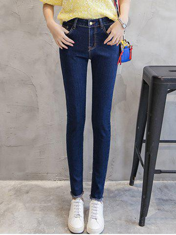 Best Slimming Fringed Mid Waist Jeans