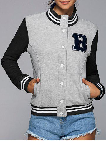 Buy Active Stand Neck Color Block Baseball Jacket