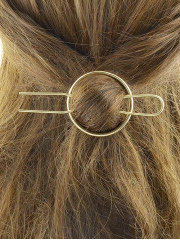 Unique Alloy Round Hair Accessory GOLDEN