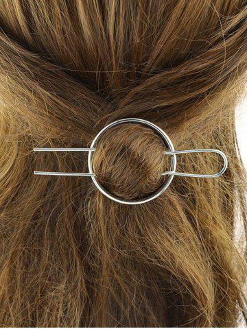Fashion Alloy Round Hair Accessory - SILVER  Mobile