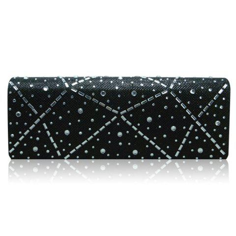 Buy Blingbling Rhinestone Cover Evening Bag - BLACK  Mobile