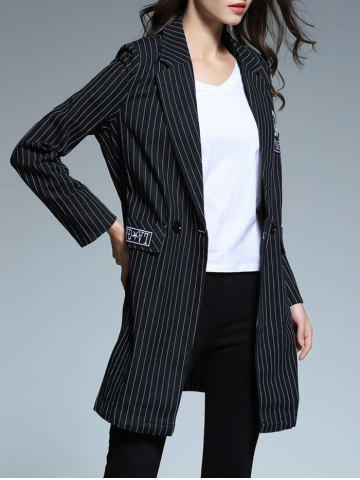 Outfits Striped Patched Blazer